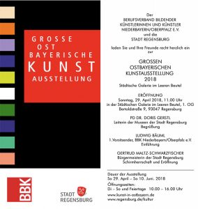 Einladungskarte - GOK Regensburg 2018